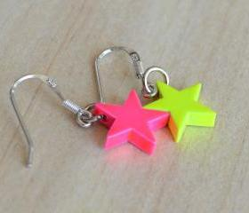 Neon Stars Earrings